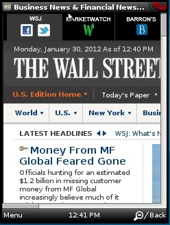 Wall street Journal Full Version in Opera Mini