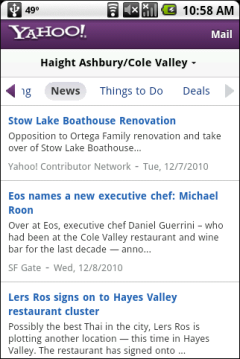 Yahoo Local Beta - Headlines