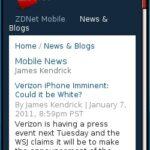 ZDNet Mobile News Blog