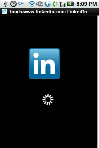 LinkedIn Splash Screen
