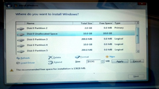 Windows 8 Advanced Drive Options