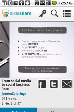 SlideShare Android - Slide View