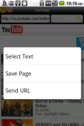 Bolt Page Context Menu