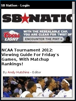 SB Nation NCAA Tournament