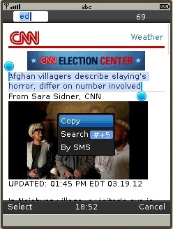 UC Browser 8.2 - Copying text from CNN