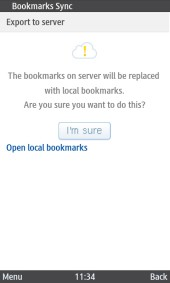 UC Browser 8.2 Java Bookmarks On Server Will Be Replaced