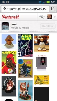 Pinterest - a Pinboard
