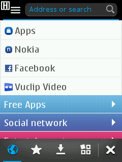 Nokia S40 Browser Start Screen