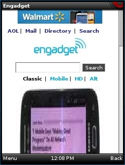 Engadget - Ugly new mobile view in Opera Mini
