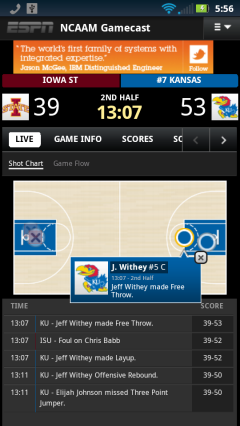 ESPN NCAA Gamecast