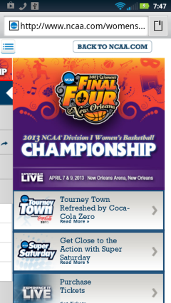Final Four Womens Homepage