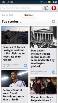 Opera Webkit Beta NY Google Discover Page
