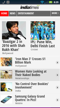 IndiaTimes Front Page