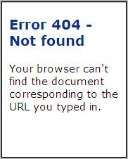 404 Error In Mobile Browser
