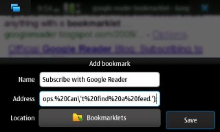 MicroB - Add Bookmark
