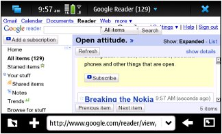 Add feed to Google Reader 