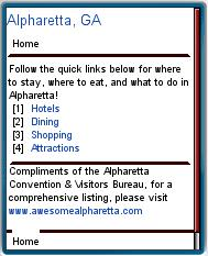 Alpharetta CVB Mobile Site