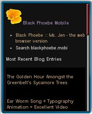 Black Phoebe Mobile