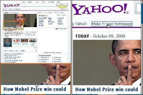 Bolt 1.5 Yahoo Homepage