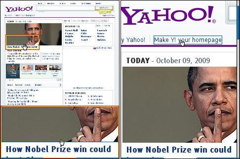Bolt 1.5 Yahoo Homepage