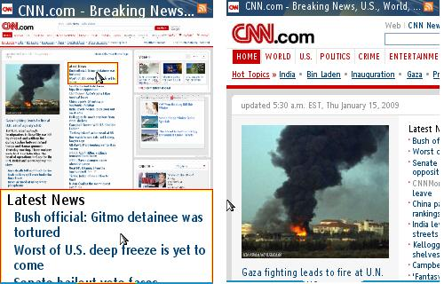 Bolt - CNN.com with Split Screen