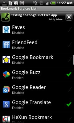Bookmarklet Android App