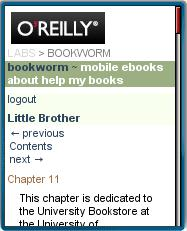 Bookworm mobile web eBook Reader