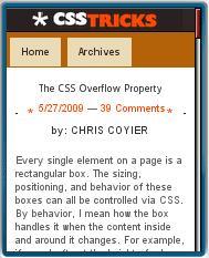CSS Tricks Mobile View