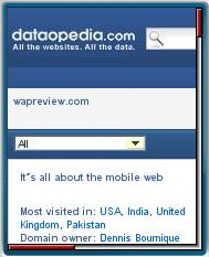 Dataopedia's Mobile Web Site