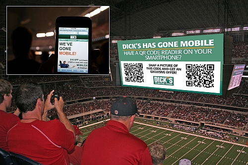 Dick's Sporting Goods QR Code Mobile Site Promotion  