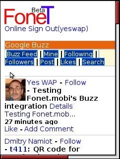Fonet - Google Buzz