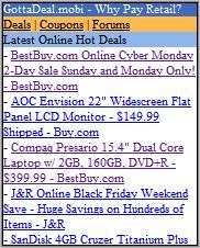 GottaDeal.mobi Homepage