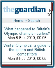 The  Guardian - Olympics 2010