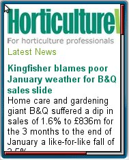Horticulture     Week Mobile