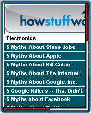 How Stuff Works Mobile Web Site 