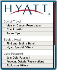 Hyatt Mobile Homepage