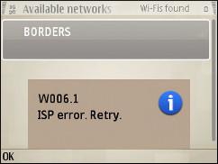 W006.1 ISP Error