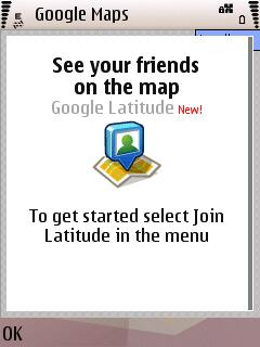 Google Latitude Intial Splash Scree