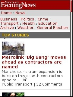 Manchester Evening News Mobile