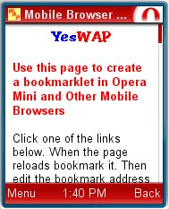 Mobile Browser Bookmarklets