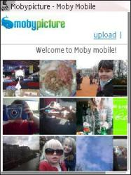 Mobypicture Mobile Website