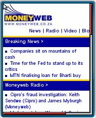 NoneyWeb Mobile Website
