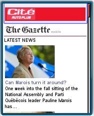 Montreal Gazzette Mobile Site