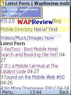 Morange - Wap Review Mobile