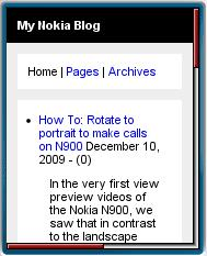 My Nokia Blog Mobile