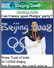 NDTV Actives Olympics Page