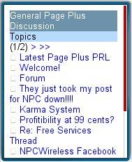 NPC Mobile Forums