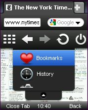 Opera Mini 5.0 Main Menu