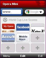 Opera Mini 5.0 Strat Page