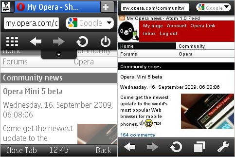 Wap Review » Blog Archive » Opera Mini 5 Beta – First